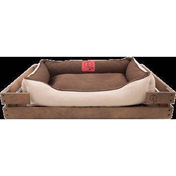 Лежак GT Dreamer Kit Chestnut XXL 128 x 84 x 16 см (Brown-White)