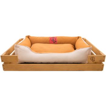 Лежак GT Dreamer Kit Pine M 78 x 54 x 12 см (Beige-White)