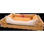 Лежак GT Dreamer Kit Pine XXL 128 x 84 x 16 см (Beige-White)