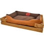 Лежак GT Dreamer Kit Pine XXL 128 x 84 x 16 см (Brown-Beige)