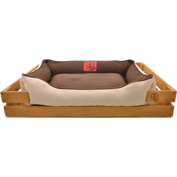 Лежак GT Dreamer Kit Pine M 78 x 54 x 12 см (Brown-White)