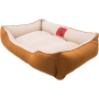 Лежак GT Dreamer Kit Pine XXL 128 x 84 x 16 см (White-Beige)