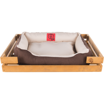 Лежак GT Dreamer Kit Pine M 78 x 54 x 12 см (White-Brown)