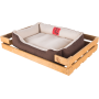Лежак GT Dreamer Kit Pine S 68 x 48 x 10 см (White-Brown)