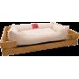 Лежак GT Dreamer Kit Pine XXL 128 x 84 x 16 см (White)
