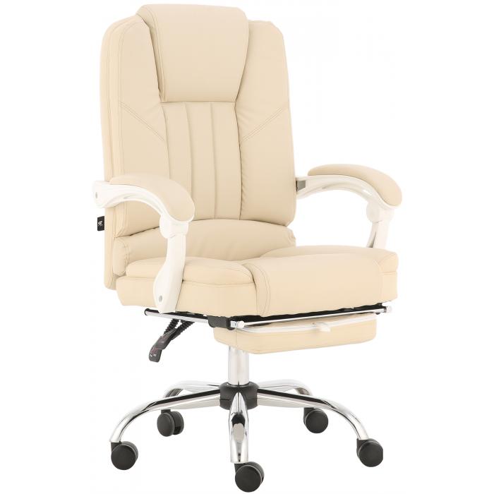 Oфисное кресло GT Racer X-2976 Footrest Cream