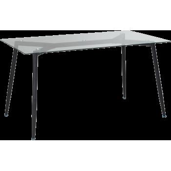 Стол GT K-4006 (140x80x76) Clear glass/Black
