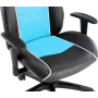 Геймерское кресло GT Racer X-2560 Black/White/Light Blue