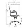 Oфисное кресло GT Racer X-2816B Mesh Black