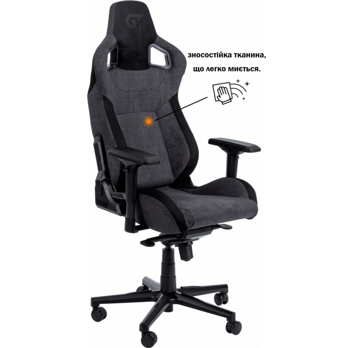 Геймерское кресло GT Racer X-8005 Dark Grey/Black Suede