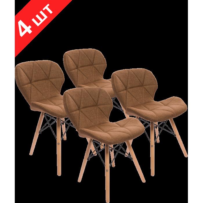 Комплект стульев GT Racer X-D27 Fabric Brown (4 шт)