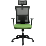 Офисное кресло GT Racer X-W172 Black/Green